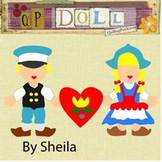 "Free Paper Doll: ""Double Dutch"" Set of Paper Doll cutting files in GSD SVG WPC and KNK"