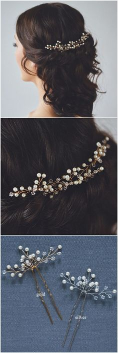 elegant bridal hair pins for wedding hairstyles