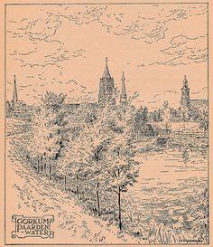 De Gorinchemse vraagbaak geeft antwoord (Uitgave Boekhandel Stein juli 1948) - pagina 30 - Tekening Paardenwater H.A. van Ravenswaaij | by Barry van Baalen