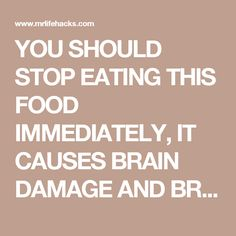 YOU SHOULD STOP EATING THIS FOOD IMMEDIATELY, IT CAUSES BRAIN DAMAGE AND BREAST CANCER! - Mr.Lifehacks