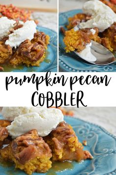 Pumpkin Pecan Cobbler - this cobbler is delicious, and perfect for Thanksgiving!