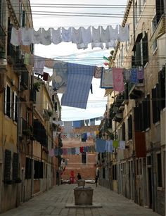 something picturesque about laundry hanging out to dry.