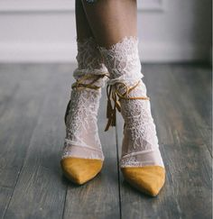 White Lace Socks - Bridal Lace socks - Sexy Socks - White socks - White tulle socks - Fashion socks - Designer socks socks for Women's Shoes Whether ballerinas, sneakers, high heels or shoes - wonderful shoes are every woman's favorite little bit o. Sock Shoes, Cute Shoes, Me Too Shoes, Crazy Shoes, Shoe Boots, Look Fashion, Womens Fashion, Fashion Trends, Unique Fashion