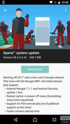 Первым после смартфонов Google и Nexus обновление Android 7.1.1 получил Sony Xperia X