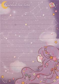 white purple turquoise teddy bear girl block Note Pad by Q-Lia 4