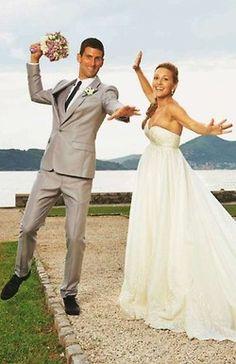 Jelena & Novak's wedding pic. Okay, this is actually really cute.