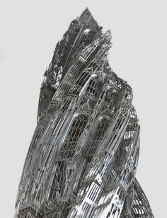 Steel Tower Sculptures #WimDelvoye #art
