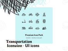 Iconuioo - Transportation icon pack by Petr Bilek Icon Pack, Transportation, Packing, Icons, Bag Packaging, Symbols, Ikon