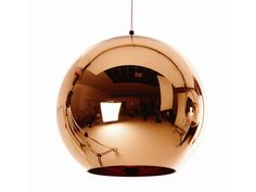 Lámpara colgante de cobre COPPER SHADE 45 Colección Copper by Tom Dixon   diseño Tom Dixon