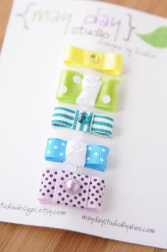 Itty bitty baby hair clips from maydaystudiodesigns on Etsy