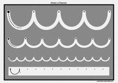 Des pistes graphiques à plastifier pour apprendre à écrire : les ponts à l'envers