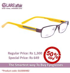 EDWARD BLAZE EBPR2013 BROWN YELLOW EYEGLASSES http://www.glareaffair.com/eyeglasses/edward-blaze-ebpr2013-brown-yellow-eyeglasses.html  Brand : Edward Blaze  Regular Price: Rs1,300 Special Price: Rs649  Discount : Rs651 (50%)