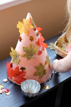 Invitation to Create: Fall Sticky Trees - Pinned by @PediaStaff – Please Visit ht.ly/63sNt for all our pediatric therapy pins