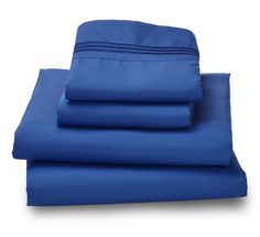 Indigo Blue Ultra Microfiber Bed Sheet Set