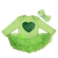 GIRLS MY 1ST ST PATRICK/'S DAY OUTFIT~SHAMROCK~CLOVER~LEPRECHAUN~GREEN~6M~9M~NWT