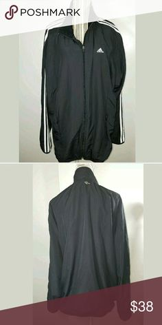 Almost Vintage Adidas Zip Mesh Lined Track Jacket Almost Vintage Adidas Zip Mesh Lined Track Jacket Black White XL EUC  Men's jacket in excellent used condition. No stains or holes.   27 inches pit to pit.  32 inches long.   LB Adidas Jackets & Coats Performance Jackets