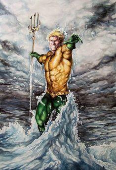 Aquaman by Eric W Meador #EricWMeador #Aquaman #ArthurCurry #Atlantis #JusticeLeague #JL