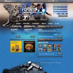 Web fans de fútbol. Diseño y maquetación.