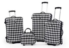 houndstooth suitcases by Claymore