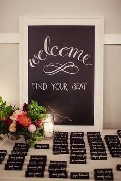 Whether you're creating table place cards or labeling the delicious sweets at your candy bar, these chalk paper table place cards are great for giving a rustic