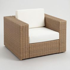 Handwoven by skilled artisans, our Vilamoura Outdoor Occasional Collection sports clean lines, deep seats and plush antique-white cushions. World Market Outdoor Furniture, Affordable Outdoor Furniture, Wood Patio Chairs, Outdoor Chairs, Saarinen Chair, Outdoor Living Patios, Accent Chair Set, Used Chairs, White Cushions