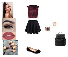 """Untitled #426"" by octahate-5sos on Polyvore featuring Machi, MANGO, Smashbox, Michael Kors and Ted Baker"