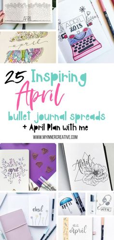 25 adorable april spreads for your bullet journal! April Bullet Journal, Bullet Journal How To Start A, Bullet Journal Junkies, Bullet Journal Themes, Bullet Journal Spread, Bullet Journal Layout, Bullet Journal Inspiration, Bullet Journals, Journal Ideas