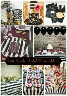 Kate Spade Bridal Shower Theme Table Settings Wedding Ideas 39 Ideas For 2019 Bridal Shower Tables, My Bridal Shower, Bridal Shower Favors, Bridal Shower Invitations, Bridal Showers, Baby Shower, Kate Spade Party, Kate Spade Bridal, Festa Party