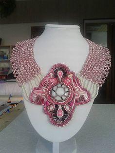 arjadne / ružový nahrdelník