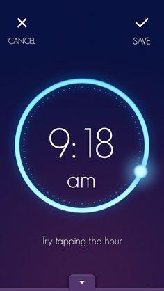 Wake - alarm app with circular dial to set time