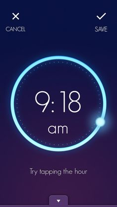 Wake - alarm app with circular dial to set time