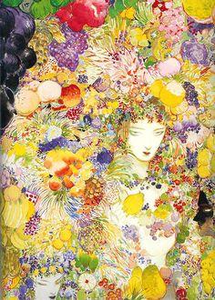 Yoshitaka Amano painting