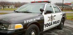 Yoga Police Car - Ford Crown Vic Police Interceptor