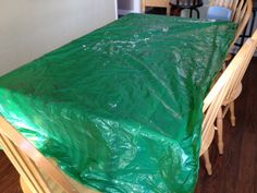 Day #351 - Use Dollar Store Plastic Tablecloths During Craft Time - Meaningfulmama.com