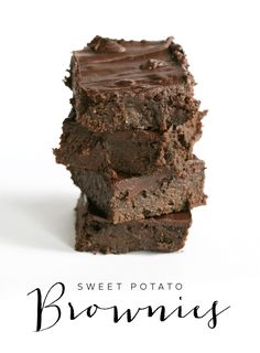 Paleo sweet potato brownies
