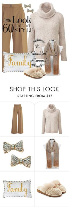 """""""Fun with Family"""" by shoppe23 ❤ liked on Polyvore featuring Erika Cavallini Semi-Couture, Thro, UGG, thanksgiving, familydinner and Shoppe23"""