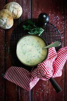 Zucchinis & Rosemary Soup
