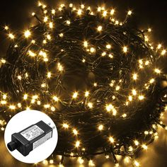 Excelvan Safe Low Voltage 250 LEDs 50M/164FT Fairy String Lights with 8 Modes for Bedroom Patio Party Wedding Christmas Decoration, Warm White