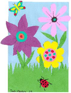 Collages- could go with any unit! Flower Collage, Collage Art, Collages, Childrens Alphabet, Alphabet Art, Spring Art Projects, Spring Crafts, Easter Crafts, Crafts For Kids