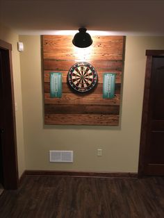 Dart backboard easy to make dart board pinterest for Diy dartboard lighting