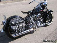 1949 Harley Hydra Glide Panhead Harley Panhead, Harley Davidson Panhead, Harley Bikes, Vintage Harley Davidson, Custom Harleys, Custom Bikes, Antique Motorcycles, Classic Mustang, Motorcycle Art