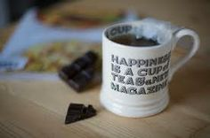 """a little reminder - """"happiness is a cup of tea and a new magazine"""" mug by Emma Bridgewater"""