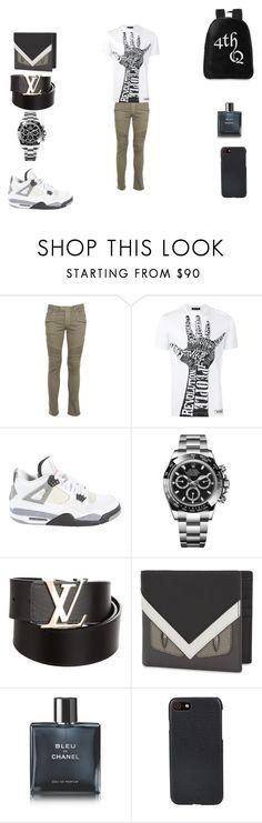 """studio gear"" by kobe-clutch on Polyvore featuring Balmain, Versace, Jordan Brand, Rolex, Louis Vuitton, Fendi, Chanel, Shinola, men's fashion and menswear"