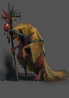 Yellow Weasel Goblin Character Design , Jay Wong on ArtStation at https://www.artstation.com/artwork/JP41n