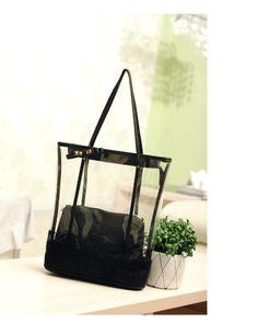 Free shipping summer missfeel high qutlity Leather Handbags transparent women's hand bag &fashion transparent shoulder bags