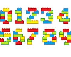 Block Numbers blocks, bricks, brick block Birthday numbers, machine embroidery assorted sizes, boys numbers embroidery designs - New Ideas Lego Toys, Lego Duplo, Lego Ninjago, Lego Avengers, Lego Batman, Pokemon Lego, Lego Hogwarts, Alphabet, Block Fonts