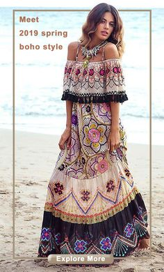 de90e1d0aaf 2019 spring new arrivals on bohemian style dresses