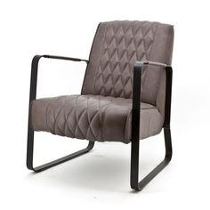 Comfortabele fauteuil in vintage taupe.