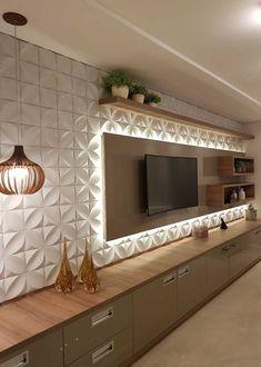 Meuble Tv Angle, Living Room Tv Unit, Living Room Decor, Living Room Designs, Be… Tv Unit Decor, Tv Wall Decor, Wall Decorations, Tv Cabinet Design, Tv Wall Design, Tv Wanddekor, Modern Tv Wall Units, Living Room Tv Unit Designs, Tv Wall Unit Designs