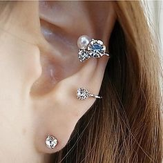 ear cuff gold silver plated clip on earrings fashion jewelry orecchini women  heart ear jacket wrap earcuff brincos e0f43f8dd0b5